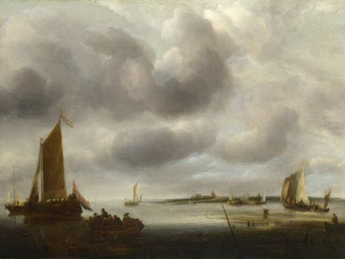 Jan van de Cappelle: 'A Coast Scene'