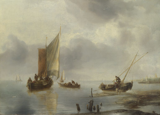 Jan van de Cappelle: 'A Small Vessel in Light Airs, and Another Ashore'