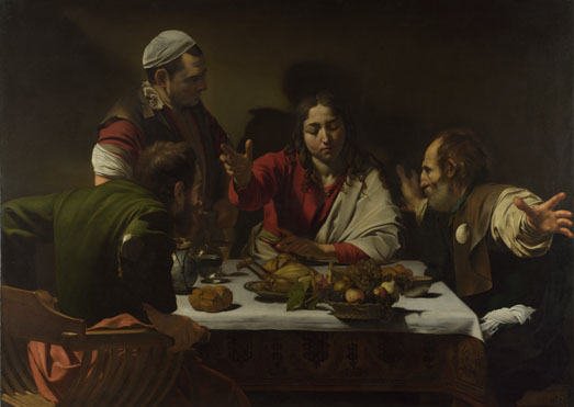 Michelangelo Merisi da Caravaggio: 'The Supper at Emmaus'