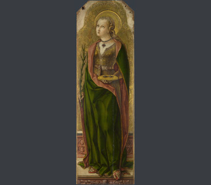 Carlo Crivelli, 'Saint Lucy', about 1476