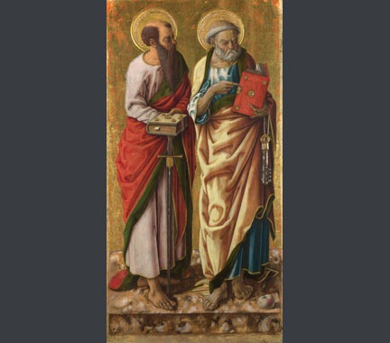 Carlo Crivelli, 'Saints Peter and Paul', probably 1470s