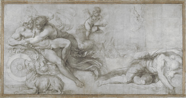 Agostino Carracci: 'Cephalus carried off by Aurora in her Chariot'
