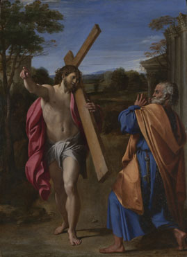 Annibale Carracci: 'Christ appearing to Saint Peter on the Appian Way'