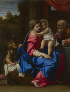 Annibale Carracci: 'The Holy Family with the Infant Saint John the Baptist'