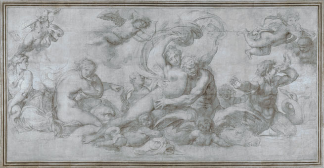 Agostino Carracci: 'A Woman borne off by a Sea God (?)'