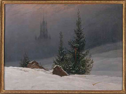 Caspar David Friedrich, 'Winter Landscape with a Church', probably 1811 or later, Museum für Kunst und Kulturgeschichte der Stadt Dortmund