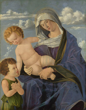 Attributed to Vincenzo Catena: 'The Madonna and Child with the Infant Saint John'
