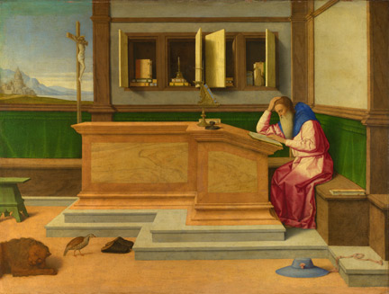 Vincenzo Catena: 'Saint Jerome in his Study'.