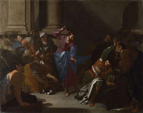 Bernardo Cavallino: 'Christ driving the Traders from the Temple'