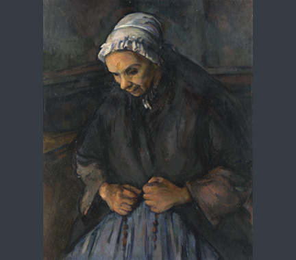 Cézanne, 'An Old Woman with a Rosary', about 1895-6