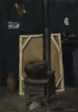 Paul Cézanne: 'The Stove in the Studio'