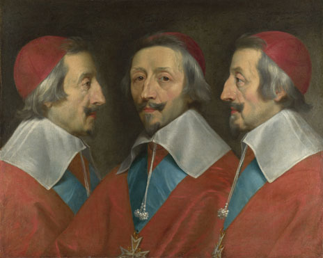 Philippe de Champaigne and studio: 'Triple Portrait of Cardinal de Richelieu'
