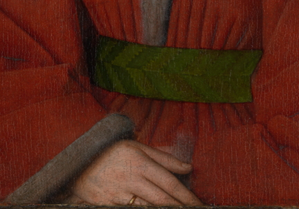 Detail from Jan van Eyck: 'Margaret, the Artist's Wife', 1439, after cleaning and restoration
