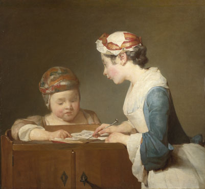 Jean-Siméon Chardin: 'The Young Schoolmistress'