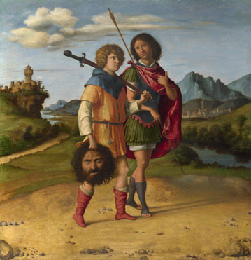 Giovanni Battista Cima da Conegliano: 'David and Jonathan (?)'