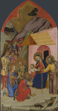 Attributed to Jacopo di Cione and workshop: 'The Adoration of the Kings'