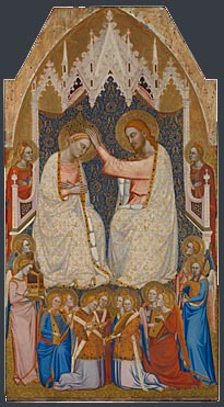 Attributed to Jacopo di Cione and workshop: 'The Coronation of the Virgin: Central Main Tier Panel'