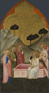 Attributed to Jacopo di Cione and workshop: 'The Maries at the Sepulchre'