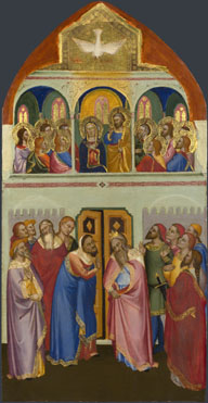Attributed to Jacopo di Cione and workshop: 'Pentecost'