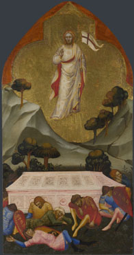 Attributed to Jacopo di Cione and workshop: 'The Resurrection'