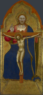 Attributed to Jacopo di Cione and workshop: 'The Trinity: Central Pinnacle Panel'