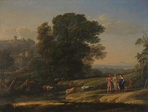 Claude: 'Landscape with Cephalus and Procris reunited by Diana'