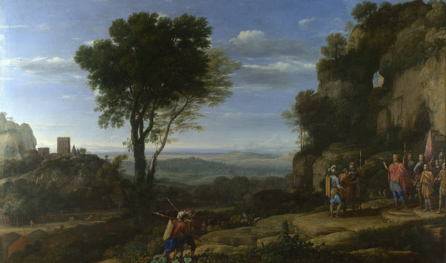 Claude: 'Landscape with David at the Cave of Adullam'