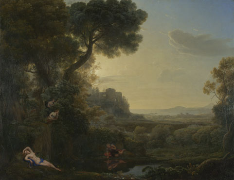 Claude: 'Landscape with Narcissus and Echo'