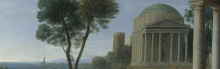 Detail from Claude, 'Landscape with Aeneas at Delos', 1672