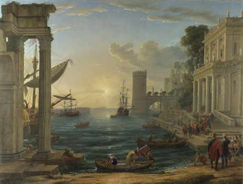Claude: 'Seaport with the Embarkation of the Queen of Sheba'