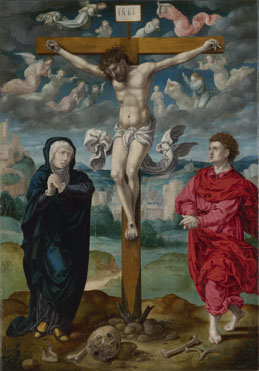 Circle of Pieter Coecke van Aalst: 'The Crucifixion: Central Panel'