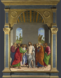 Cima da Conegliano: 'The Incredulity of Saint Thomas'.