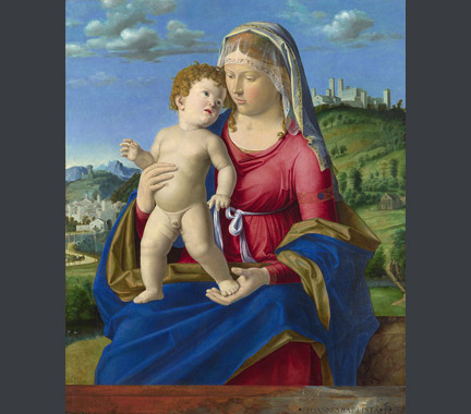Giovanni Battista Cima da Conegliano: 'The Virgin and Child'.