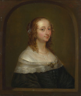 Imitator of Gonzales Coques: 'Portrait of a Woman'