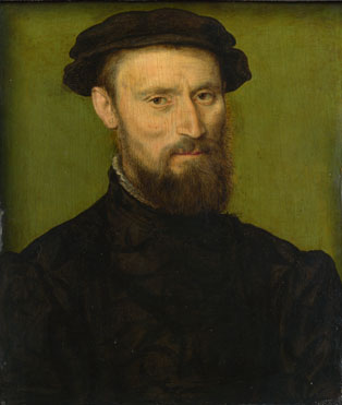 Attributed to Corneille de Lyon: 'Bust Portrait of a Man'
