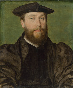 Attributed to Corneille de Lyon: 'Portrait of a Man'