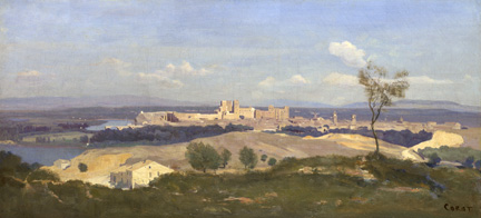 Corot, 'Avignon from the West', probably 1836