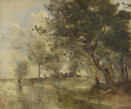 Jean-Baptiste-Camille Corot: 'A Flood'