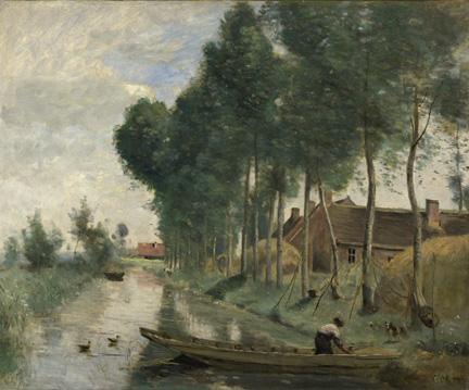 Corot, 'Landscape at Arleux-du-Nord', 1871-4