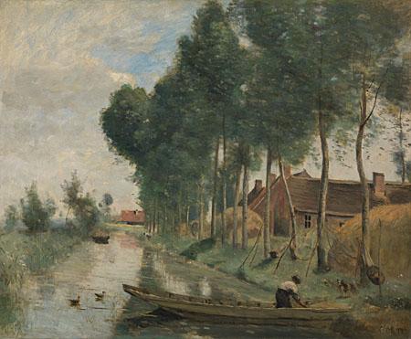 Jean-Baptiste-Camille Corot: 'Landscape at Arleux-du-Nord'