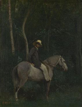 Jean-Baptiste-Camille Corot: 'Monsieur Pivot on Horseback'