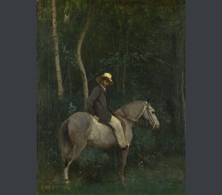 Corot, 'Monsieur Pivot on Horseback', about 1853