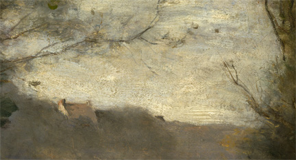 Detail from Corot, 'The Oak in the Valley', 1871