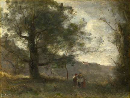 Corot, 'The Oak in the Valley', 1871