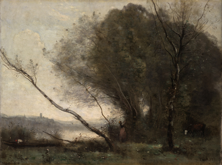 Corot, 'The Bent Tree (Morning)', about 1855-60