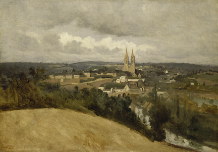 Corot, 'View of Saint-Lô', 1833