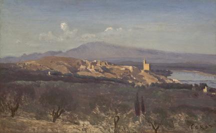 Corot, 'Villeneuve-les-Avignon'