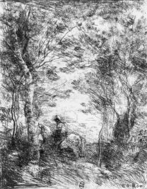Corot, 'Le petit cavalier sous bois', 1854