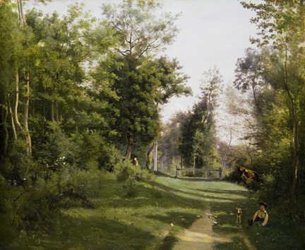 Corot, 'Ville-d'Avray: A Path in the Woods', about 1850–5