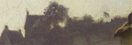 Detail from Corot, 'Peasants under the Trees at Dawn', about 1840-5